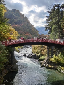 The bridge across the river to Toshugu shrine
