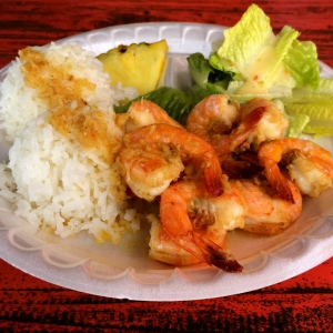 The best garlic shrimp on the island
