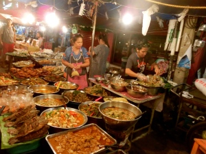 So much food on offer at the night walking markets
